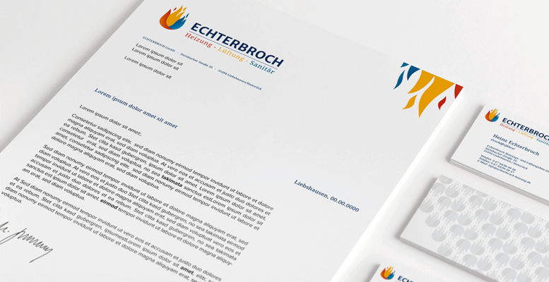 Echterbroch Heizung Corporate Design