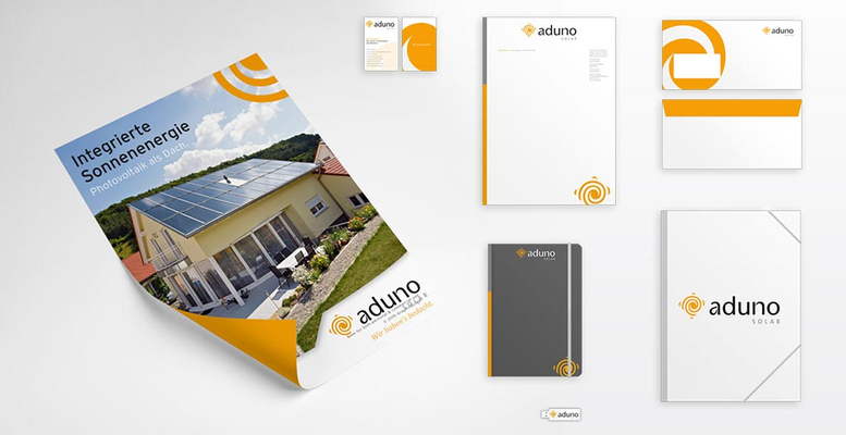 aduno solar Corporate Design